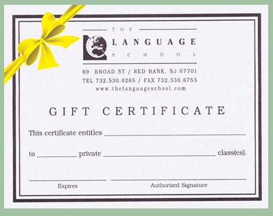 customized certificate  Gift Certificates